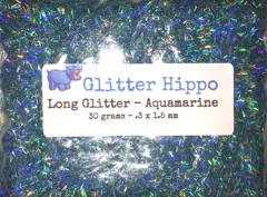 Long Glitter! - Aquamarine (.3 x 1.5 mm)