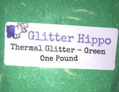 "Thermal Glitter! - Green to White (1/128"")  One Pound"