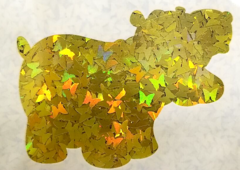 Holographic Shape Glitter! - Yellow Butterflies