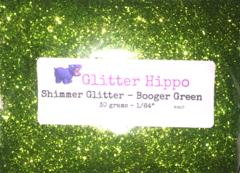 """Shimmer Glitter! - Booger Green (1/64"""")"""