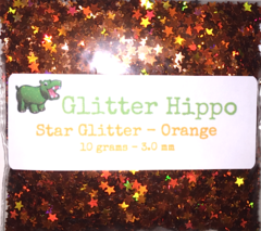 Star Glitter! - Orange (3 mm)