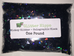 Mickey Glitter! - Holographic Black (2.5 mm) - One Pound