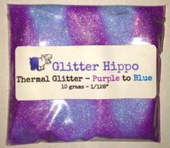 "Thermal Glitter! - Purple to Blue (1/128"")"