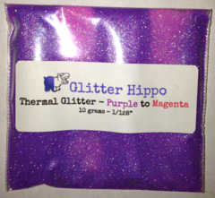 "Thermal Glitter! - Purple to Magenta (1/128"")"