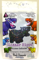 Holographic Shape Glitter! - Black Diamonds