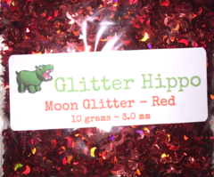 Moon Glitter! - Red  (3 mm)
