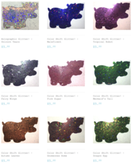 Color Shift Glitter - Bundle Pack & Glitter Hippo® Figure!