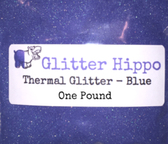 "Thermal Glitter! - Blue to White (1/128"")  One Pound"