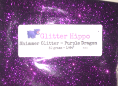"Shimmer Glitter! - Purple Dragon (1/64"")"