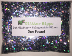 Dot Glitter! - Holographic Silver (3.0 mm) - One Pound