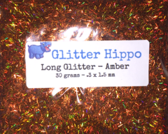 Long Glitter! - Amber  (.3 x 1.5 mm)
