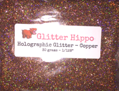"Holographic Glitter! - Copper (1/128"")"