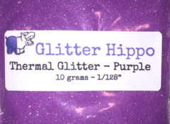 "Thermal Glitter! - Purple to White (1/128"")"