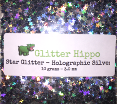 Star Glitter! - Holographic Silver (3 mm)