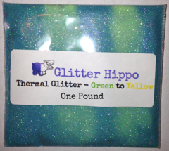 "Thermal Glitter! - Green to Yellow (1/128"")  One Pound"