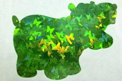 Holographic Shape Glitter! - Green Butterflies