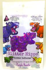 Holographic Shape Glitter! - Purple Hearts