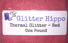 "Thermal Glitter! - Red to White (1/128"")  One Pound"