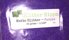 "Matte Glitter! - Purple (1/128"")"