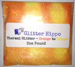 "Thermal Glitter! - Orange to Yellow (1/128"")  One Pound"