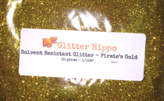"Solvent Resistant Glitter! - Pirate's Gold (1/128"")"