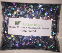 Mickey Glitter! - Holographic Silver (2.5 mm) - One Pound