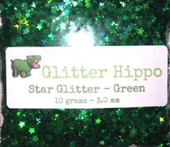 Star Glitter! - Green (3 mm)