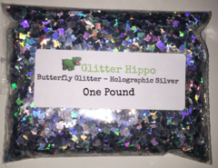 Butterfly Glitter! - Holographic Silver (3.0 mm) - One Pound