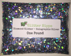 Diamond Glitter! - Holographic Silver (2.0 mm) - One Pound