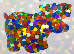 Holographic Shape Glitter! - Multi Color Hearts