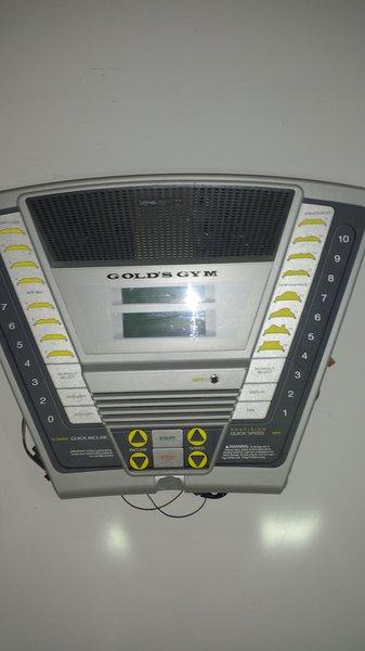 Gold's Gym Crosswalk 570 Treadmill Console Ref#10426- Used