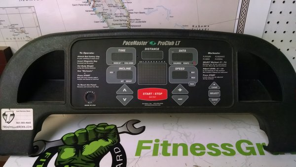 PaceMaster Pro Club LT Treadmill Console Ref# 10355 -Used