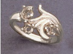 (3) 3mm Round Sterling Silver Fleur Style Pre-Notched Mother's Ring Setting Size 6-8
