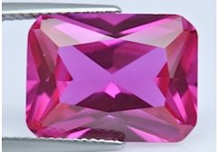 Octagon Faceted AAA Lab Created Pink Sapphire #3 (5x3mm to 12x10mm)