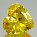 HEART FACETED AAA RATED CANCARY YELLOW CUBIC ZIRCONIA (4x4mm - 18x18mm)