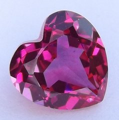 Heart Faceted AAA Lab Created Pink Sapphire #3 (3x3mm to 15x15mm)