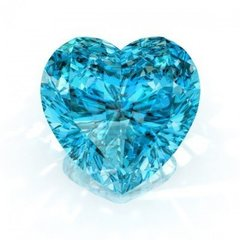 HEART FACETED AAA RATED BRIGHT BLUE GREEN AQUAMARINE CUBIC ZIRCONIA (3x3mm - 15x15mm)