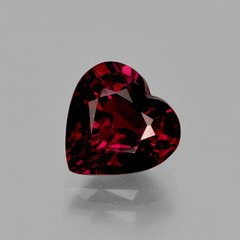 HEART FACETED AAA BRIGHT ORANGE RED (NATURAL) GARNET