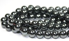 "16"" Strand of AAA Rated Genuine (Natural) Hematite Beads (3mm-12mm)"