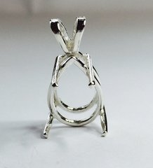 14kt Gold or Sterling Silver Pear Cast Wire Pendant Setting (5x3-30x22mm)