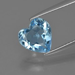 HEART FACETED AAA BRIGHT SKY BLUE (NATURAL) TOPAZ