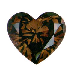 HEART FACETED AAA RATED BRIGHT CHOCOLATE CUBIC ZIRCONIA (3x3mm - 15x15mm)
