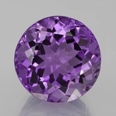 ROUND FACETED AAA RATED BRIGHT PURPLE CUBIC ZIRCONIA (1.5mm - 50mm)