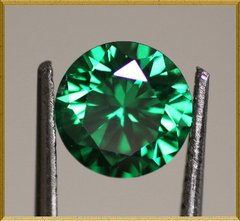 ROUND FACETED AAAAA RATED BRIGHT GREEN CUBIC ZIRCONIA (1-20mm)