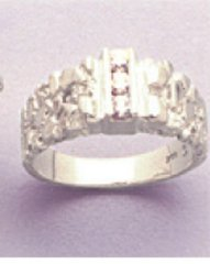 (3) 3mm Round Sterling Silver Round Men's Pre-Notched Channel Set Ring Setting Size 7-14
