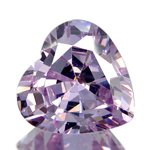 HEART FACETED AAA RATED BRIGHT LAVENDER CUBIC ZIRCONIA (4x4mm - 18x18mm)