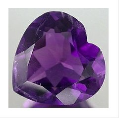 HEART FACETED AAA RATED BRIGHT PURPLE CUBIC ZIRCONIA (4X4mm - 50X50mm)