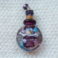 Lovely Murano Lampwork Art Glass Perfume Bottle