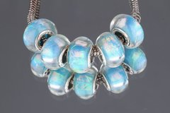 5 Pieces Silver Plated Murano Lampwork Bright Shimmer Bead Collection
