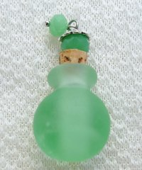 Lovely Murano Lampwork Aqua Glass Perfume Bottle